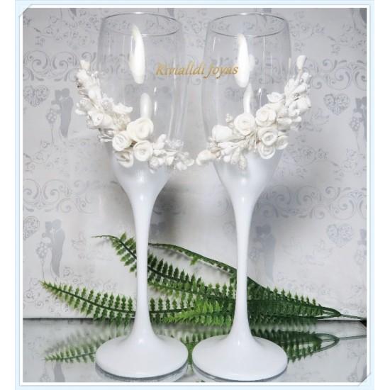 """Copas  para bodas """"Blanquita"""""""
