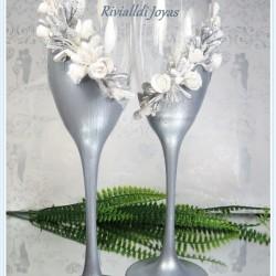 """Copas para bodas """"Bodas de Plata"""""""