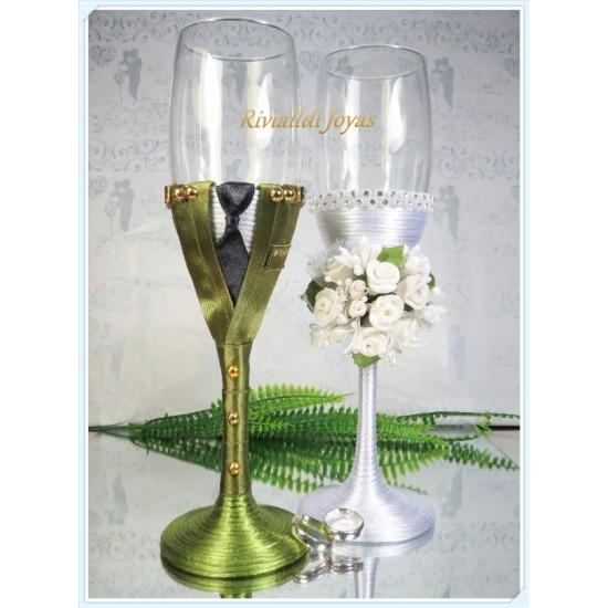 """Copas para bodas """"Militar"""""""