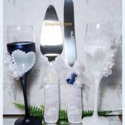 Copas y paletas de bodas corazon