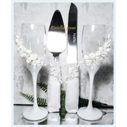Copas y paletas de bodas blanquita
