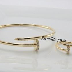 "Set brazalete y anillo ""Clauriviall"""
