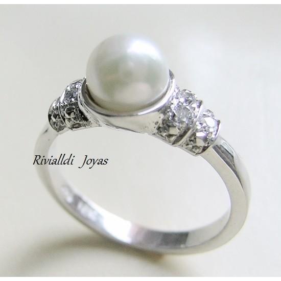 """anillo de compromiso """"Perlita"""""""