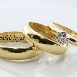 "Alianza matrimonial set ""Anny"""