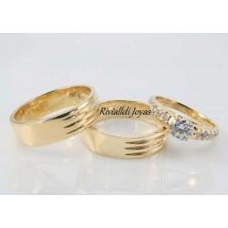 "alianza matrimonial set ""Corentin"""