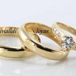 """Alianza matrimonial set """"Danusca"""""""
