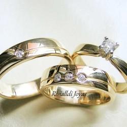 """Alianza matrimonial set """"Vedetta"""""""