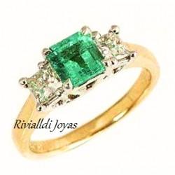"""anillo con esmeralda """"Selva"""""""