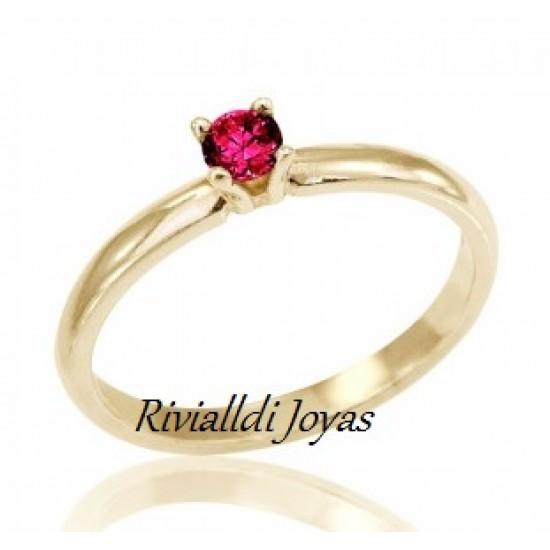"""anillo con rubi """"Pandora"""""""
